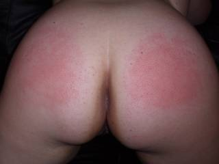 She was bad and deserved a spanking.