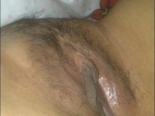 wife spread her pussy