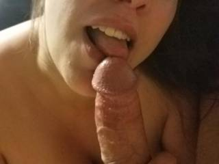 Took some photos during a sexy POV face fuck vid. The lovely Horny Nicky loved sucking cock.