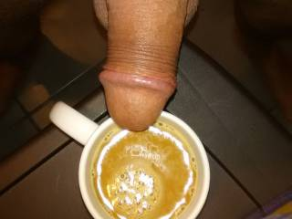 wife wanted cream in her coffee