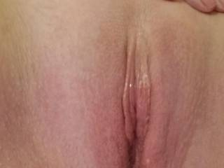 freshly shaved for him to lick