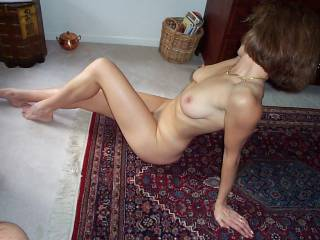 just before I straddle her for a blow job