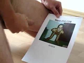 Tribute for beautifull and sexy lady Dunjica. I sprayed her pic with lots of hot cum. Watching her pics and vids make me very horny :)