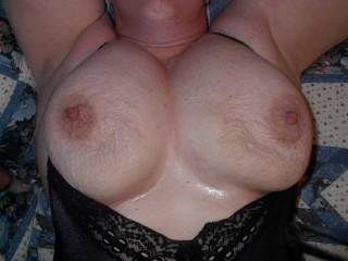 i would love to squeeze,suck,kiss,lick and nibble youe soft sexy mounds!