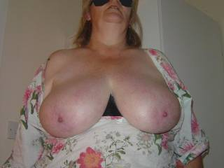 I'd like to hold them and suck on your nipples