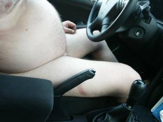 Showing skin in car 1 of 2.  Answer to MrMrsJohnson\'s dare.  Hand break on in this one! ;)