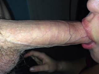 Y sexy girlfriend sucking my big hard cock