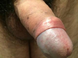 Hairy cock growing up...
