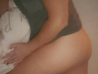 Wife in sheer nighty photo