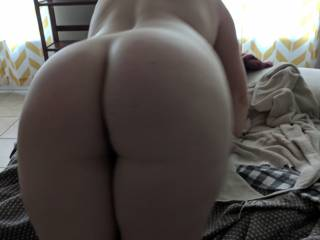 Bent over ready for a big dick or two