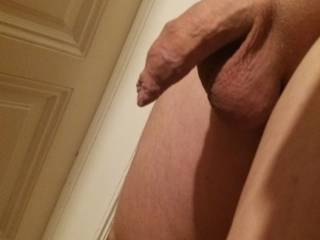 uncut shaved cock