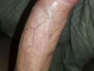 Just showing of my Hard, veiny  white cock