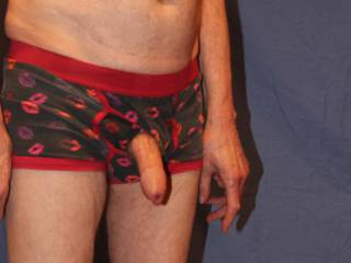 Mr Floppy glad to escape the tight undies.