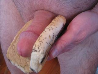 mmm I'd like to try this hot dog but mostly taste the delicious creamy filling of sausage