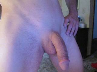 I love a sexy hanging cock!!! I want to be on my knees in front of you and take it in my mouth!