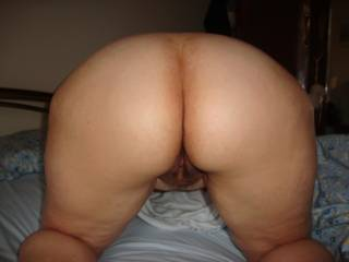 Lovely hairy pussy and ass. I'd love to mount you.