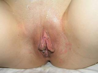 hot cum dripping on my very aroused labia, who wanna be next? private me for requests