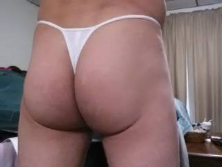 Sweet ass! Bend over, I'll pull your thong to the side and rim, eat and tongue fuck your asshole!!