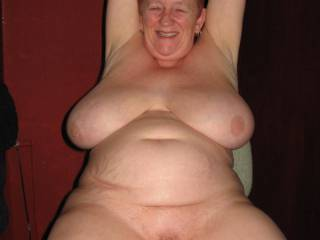 You are a real mature natural women whit a great body heavy breast an you got a nice smile . Like it an