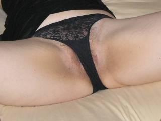 Hairy pussy wet panties