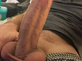 A more recent dick pic. Forgive the less than scenic background :)