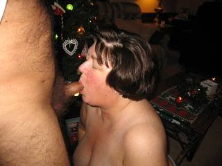 Cum on. Give the slut a face ull of cum!!!