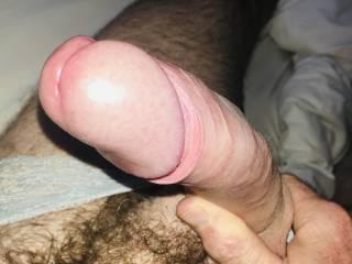 Hard shiny head for pussy x