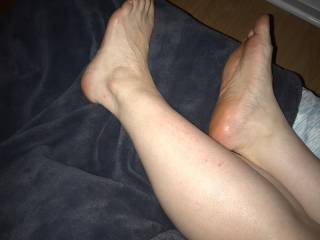 Who wants to kiss my legs and feet?