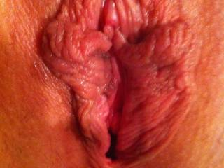 my sweet pink sideways smile after getting fucked by three hard cocks