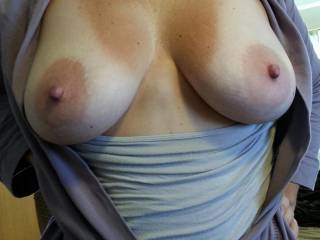 They are absolutely gorgeous, such lovely big areola and hard nipples. I bet they feel fabulous to hold and kiss