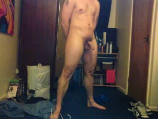 Nice body and nice big cock man! keep showing it off stud!