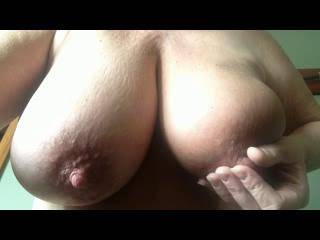 damn i like your tits luv your nipples  i want to lick them suck them fuck them cum on them  and put both of my heads on them  i wish
