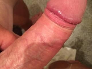 Stroking my juicy cock