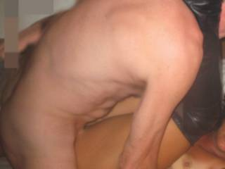 This is great way to  be fucked - thick cock deep inside me. And still missing another cock