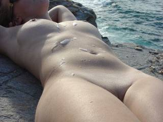 Probably my (and my husbands) favorite vacation outdoor sex shot. 