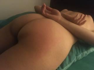 Gave her a proper hard spank