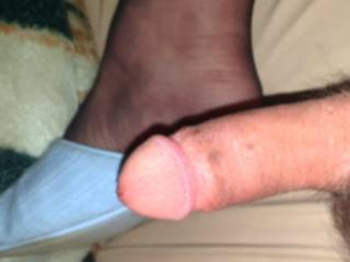 My small dick got a bit excited after playing with it to long