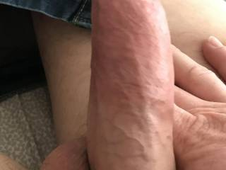 Ken's big dick. Any ladies want to ride my man's big dick while I watch? I'll lick your cum off of his balls after you're done!