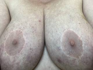 Who's going to put their cock in between my soft big tits and fuck them until you explode all over my face?