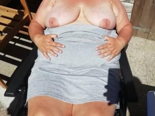 enjoying the sunshine do you want to apply cream