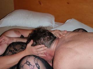 lovely!!!!  I love the feel of a guys head between my knees!