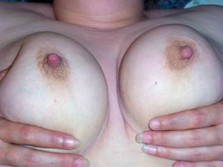 i am going to cum on your sweet tits soon  mmmmm they are so nice and perky