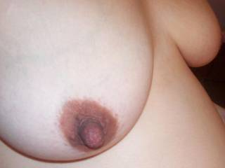my big dark nipple love to be sucked