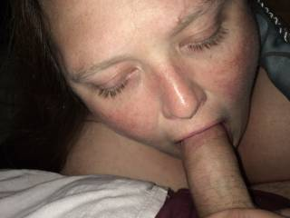 wifey got excited by a couple on here sending their pics to us through email, so she starting sucking on hubby.