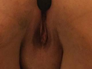 Pussy shot with anal plug in my ass :)