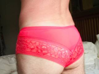 Wife's brand new pink panties x love them.