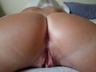 I love both holes... especially my girlfriend's ass.