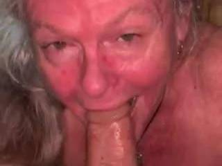 Surprised one of my cocks at lunch. I love swallowing and spitting all over his cock, taking him to his balls. And yes I did swallow his cum. Mmmmm tasty cum.