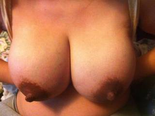 they look awesome thoes nipples look fantastic love to suck on them