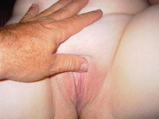Rubbing that clit makes her happy